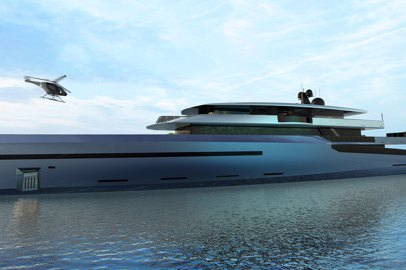 BYD Group unveiled new 75-meter superyacht concept Bravo 75 with triple hybrid propulsion