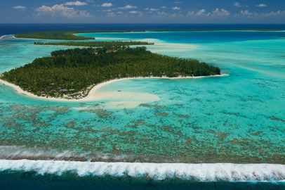 A luxury eco-resort on the private atoll of Tetiaroa