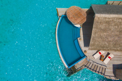 A boutique resort on the private island of Milaidhoo