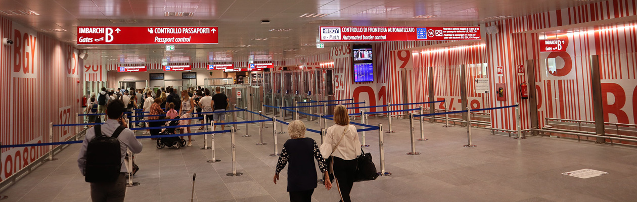 The new Non-Schengen area at Milan Bergamo Airport