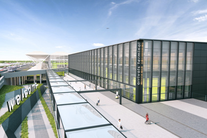 London Stansted Airport. New Arrivals Terminal for 2020
