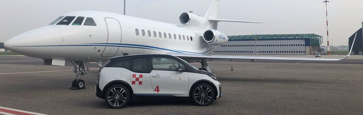Milano Prime e BMW rinnovano la partnership con nuove auto full-electric per i voli di business aviation