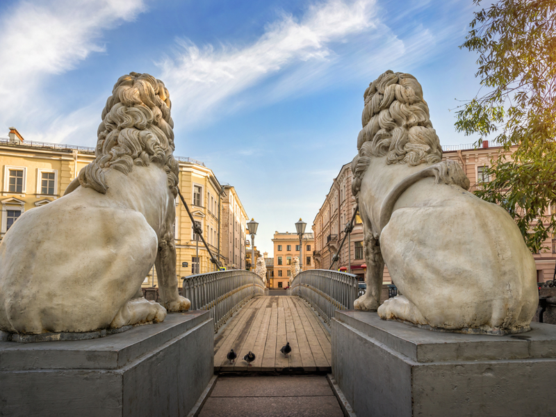 The Bridge of the Lions, St. Petersburg.
