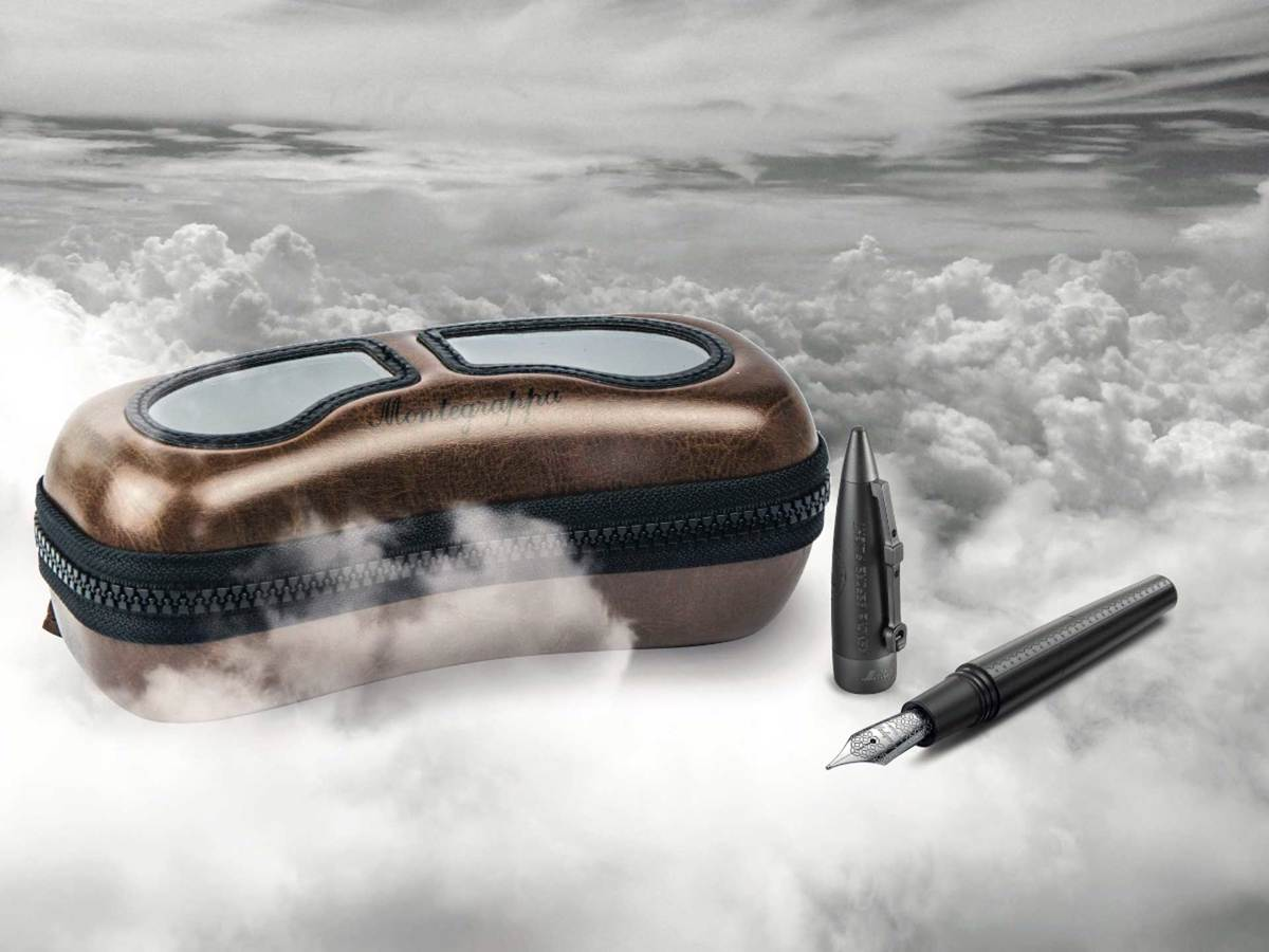 Montegrappa. Penna Aviator All-Black Flying Ace.