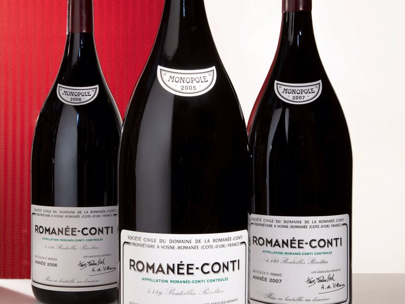10325-3 Meths Romanee Conti 2005, 2006, 2007. Sotheby's Wine